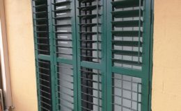 Double Hinged Shutter Closed With Open Blades