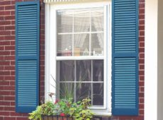 Fixed Cedar Shutter Painted Blue