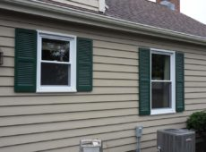 Fixed Cedar Shutter Painted Cottage Green
