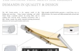 Folding Arm Awning Brochure