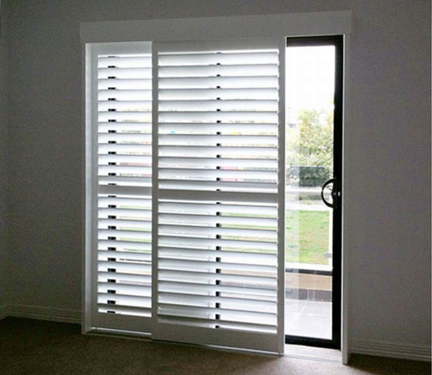 Security Shutters For Patio Doors: Sliding Plantation Shutters