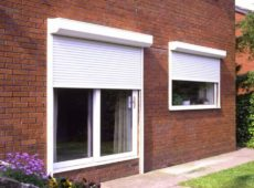 Traditional White Roller Shutter