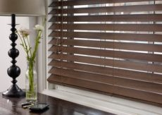 Wallnut Timber Venetian Blind 63 slats