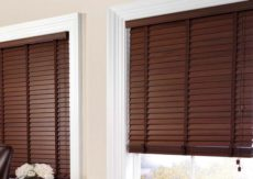 Wallnut Timber Ventian Blinds 50mm Slats