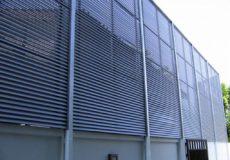 Aluminium 115mm Fixed Louvre Screen Panels