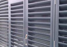 Aluminium Louvres Plant Enclosure with doors