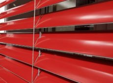 External Venetian Curved 80mm Red Slat