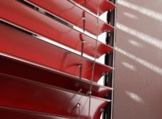 External Venetian Curved 80mm Red Slat Profile