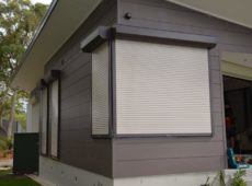 Face Fitted Corner Security Roller Shutters