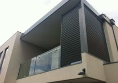 Fixed Aluminium Louvre Panels Corner Screen