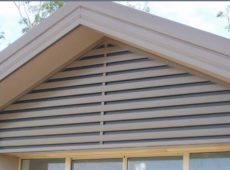 Gable In-Fill Slat Screen Colorbond Dune