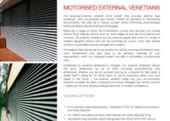 Motorised External Venetian Blinds Brochure