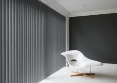 Vertical PVC Grey Match wall Colour blockout Chainless