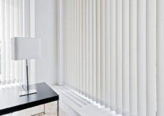 White Translucent 90mm Slats with chains Vertical great for Screening