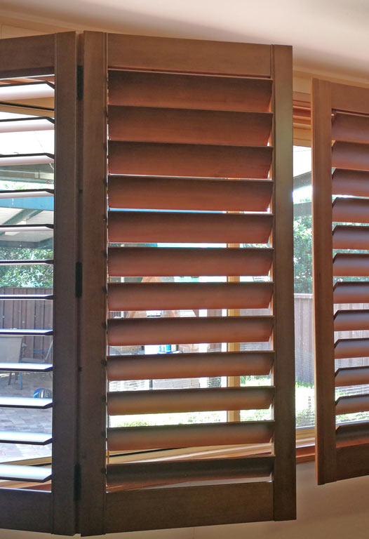 Greystanes: Stained Plantation Shutters
