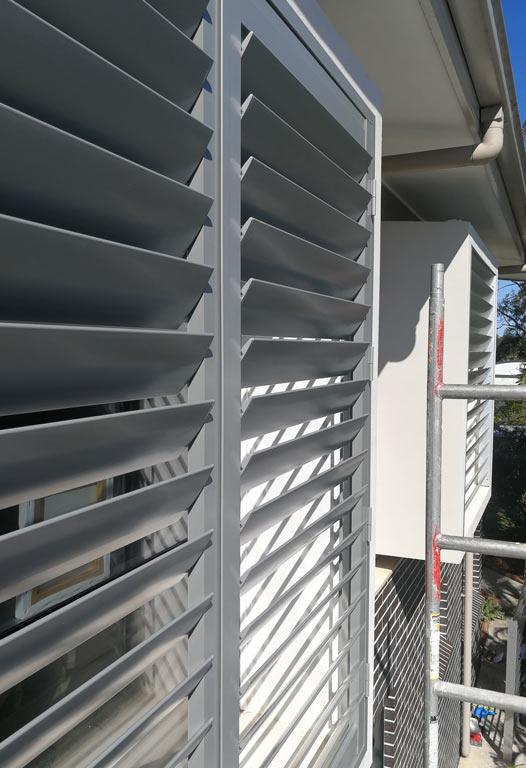 Caringbah: Sunhoods & Large Aluminium Shutter Panels
